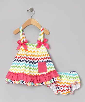 Rainbow Zigzag Swing Top & Bloomers - Infant