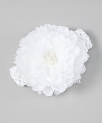 White Petal Layer Headband