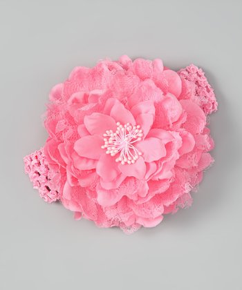 Pink Petal Layer Headband