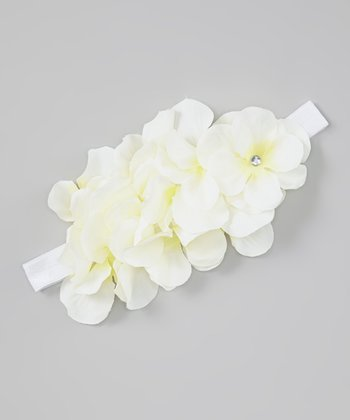 Cream Cluster Flower Headband