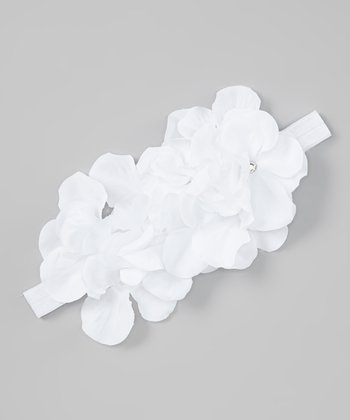 White Cluster Flower Headband
