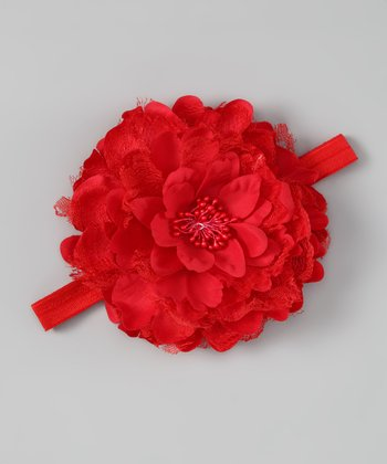 Red Petal Layer Headband