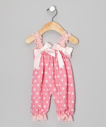 Pink Polka Dot Bubble Romper - Toddler