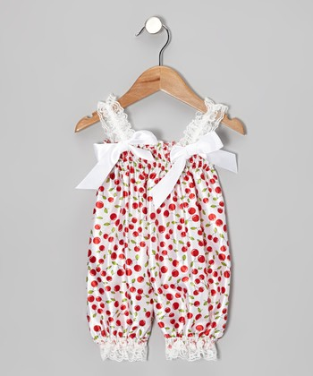 Red Cherry Bubble Romper - Infant & Toddler