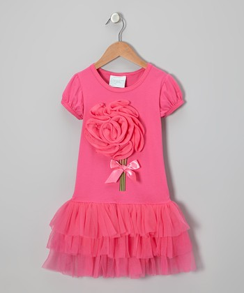 Hot Pink Blossom Dress - Infant, Toddler & Girls