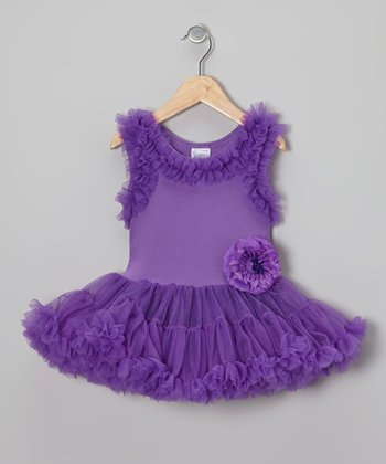 Purple Ruffle Pettidress Dress - Infant, Toddler & Girls