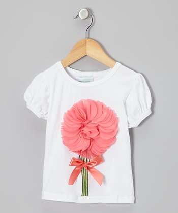 Coral Flutter Flower Tee - Infant, Toddler & Girls