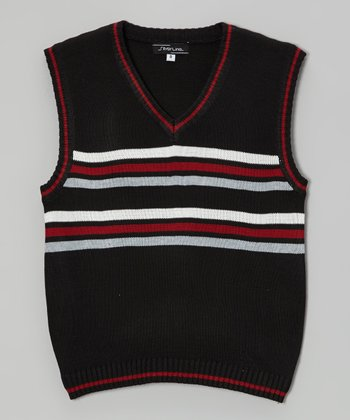 Black Stripe Sweater Vest - Infant, Toddler & Boys