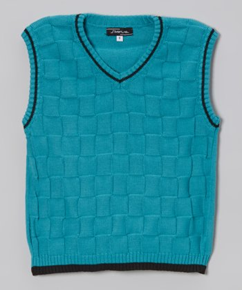 Blue Checkerboard Sweater Vest - Infant, Toddler & Boys