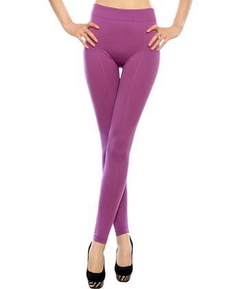 Purple Basic Leggings