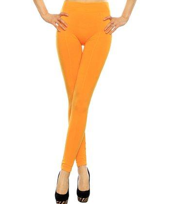 Yellow Seamless Leggings