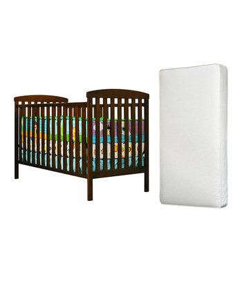 Espresso Leila Convertible Crib & Mattress