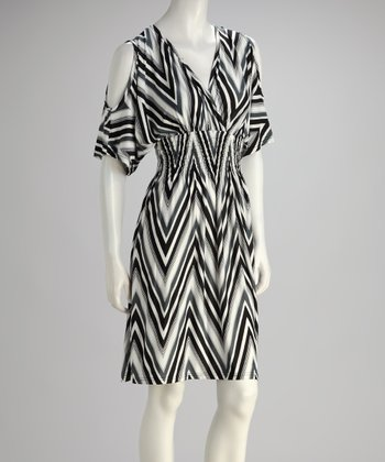 Black Zigzag Cutout Dress