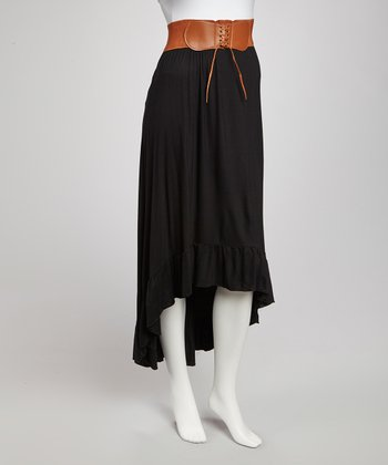 Black Hi-Low Skirt