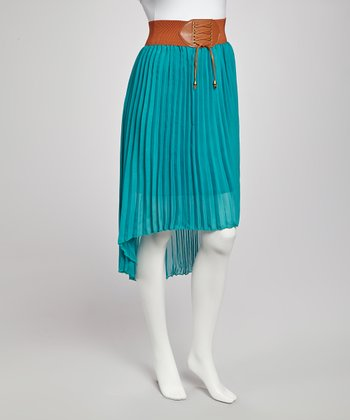 Teal Hi-Low Skirt