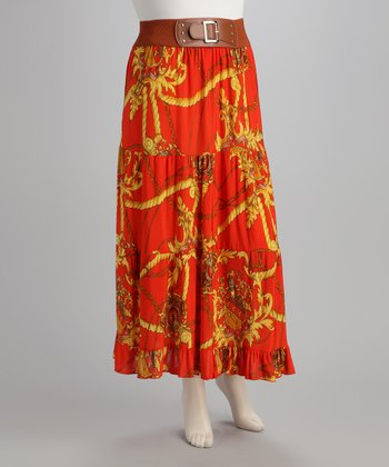 Orange Status Skirt - Plus