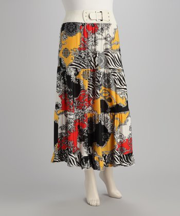 Black & Yellow Skirt - Plus