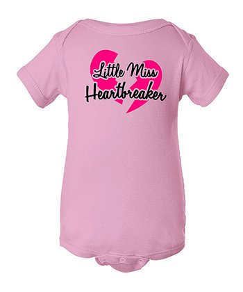 Pink 'Little Miss Heartbreaker' Bodysuit - Infant