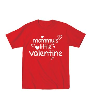 Red 'Mommy's Little Valentine' Short-Sleeve Tee - Toddler & Kids