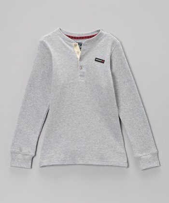Gray Thermal Henley - Infant & Boys