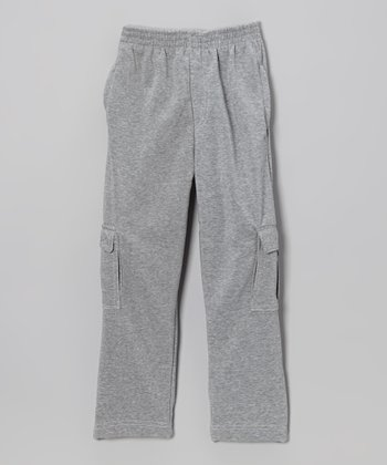 Heather Gray Cargo Pants - Toddler