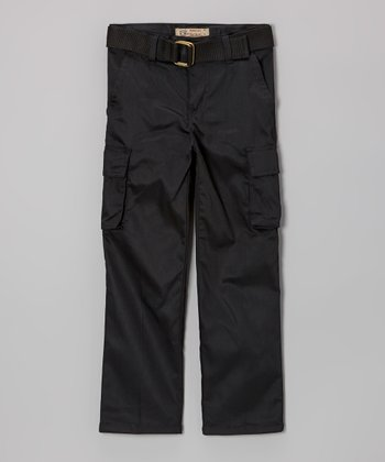 Black Belted Cargo Pants - Toddler & Boys
