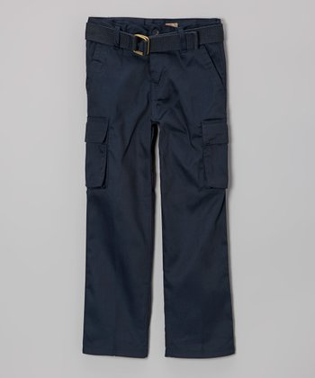 Navy Belted Cargo Pants - Toddler & Boys