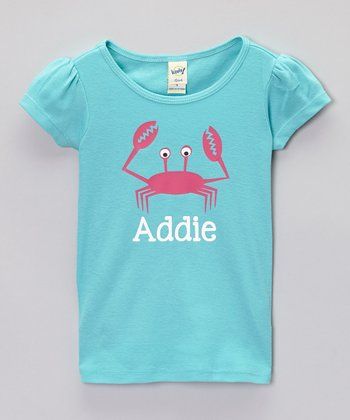 Caribbean Blue Crab Personalized Tee - Infant, Toddler & Girls