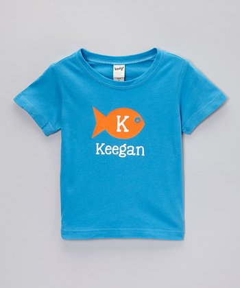 Turquoise Fish Personalized Tee - Toddler & Boys
