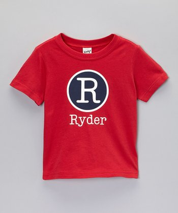 Red Circle Personalized Tee - Toddler & Boys