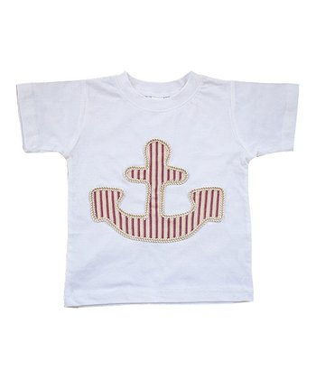 White Anchor Tee - Infant & Toddler