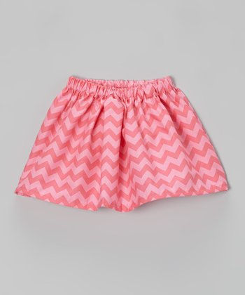 Pink Zigzag A-Line Skirt - Infant, Toddler & Girls