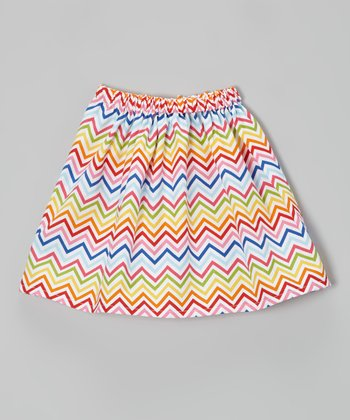Rainbow Zigzag A-Line Skirt - Infant, Toddler & Girls