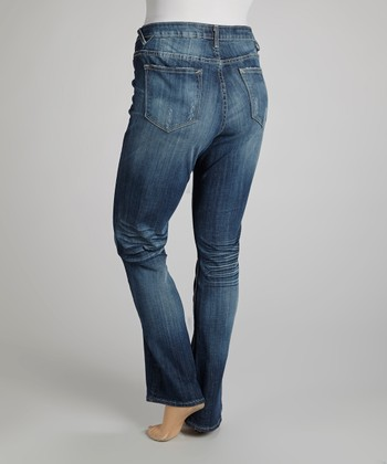 Medium Vintage Wash Jagger Straight-Leg Jeans - Plus