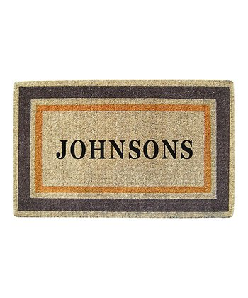 Basic Border Personalized Doormat