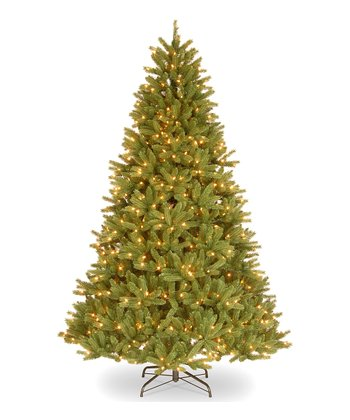 7.5' Feel-Real Grande Fir Pre-Lit Tree