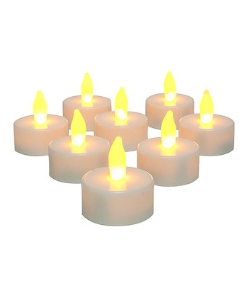 Amber Flameless Tealight Candle - Set of 12