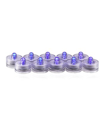 Purple Flameless Submersible Tealight Candle - Set of 10