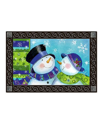 Snow Couple Doormat