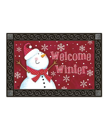 'Welcome Winter' Doormat
