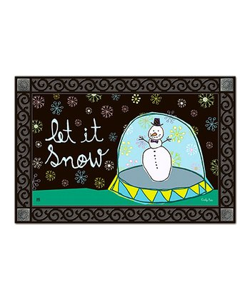 'Let It Snow' Snow Globe Doormat