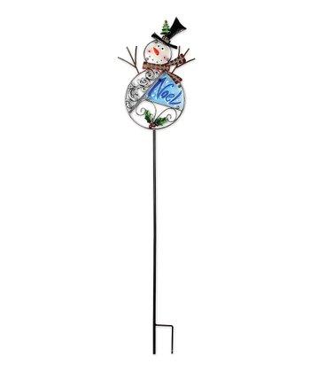 'Noel' Snowman Garden Stake