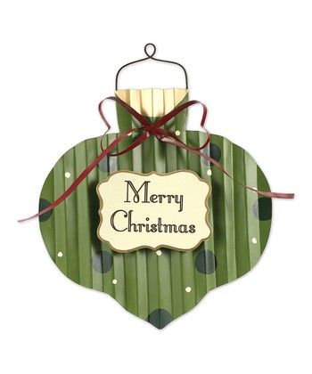 Green & Black Dot 'Merry Christmas' Decorative Sign