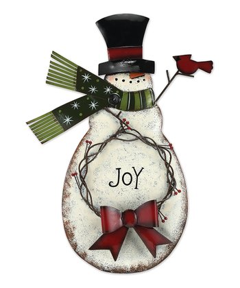 Snowman & Wreath Bucket Holder
