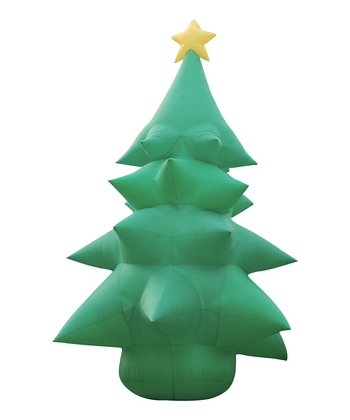 Christmas Tree & Star Inflatable Light-Up Lawn Decoration