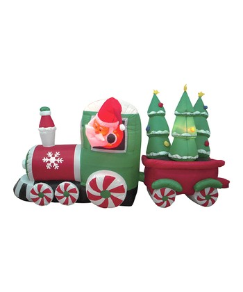Santa's Candy Train Inflatable Light-Up Lawn Decoration