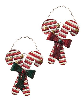 Candy Cane Wall Hanging - Set of Two
