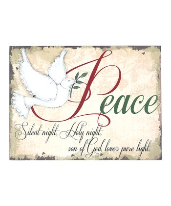 'Peace' Dove Inspirational Wall Hanging