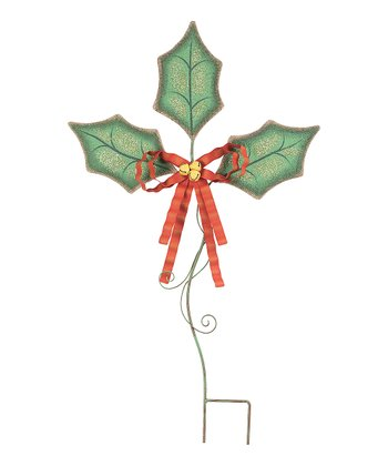 Holly Leaves Garden Stake