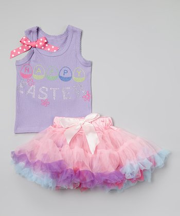 Lavender & Pink Easter Tank & Pettiskirt - Toddler & Girls